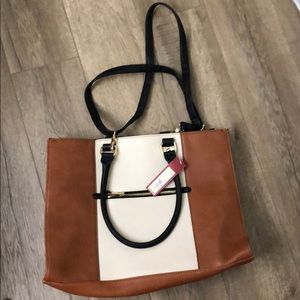 Large Brown Tote Bag - NEVER USED
